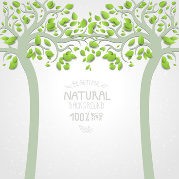 eco natural style tree backgrounds vector