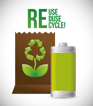 eco recycle design background vector