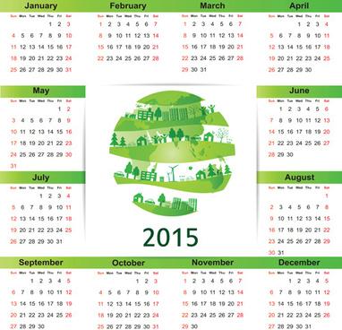 eco style15 calendar vector