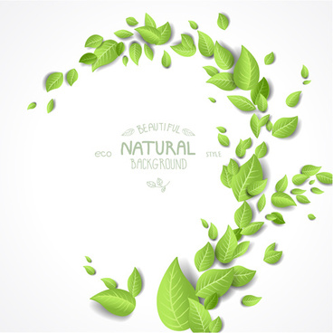 eco style beautiful natural background vector