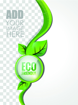 eco style brochure with flyer cover vector