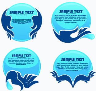 eco style creative logos vector