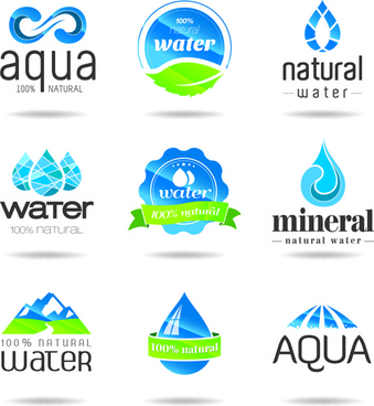 eco with natural logos and labels vector