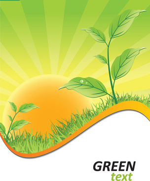ecologic with green design background vector