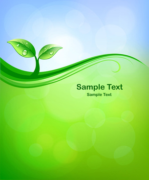 ecological and bio vector background