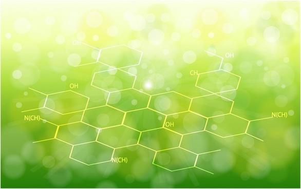 ecology background chemical formulas
