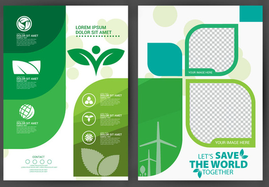 ecology brochure design with modern style