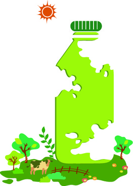 ecology objects illustration design vector