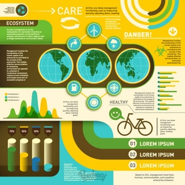 ecology retro infographic set