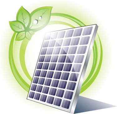 ecology solar panel creative vector