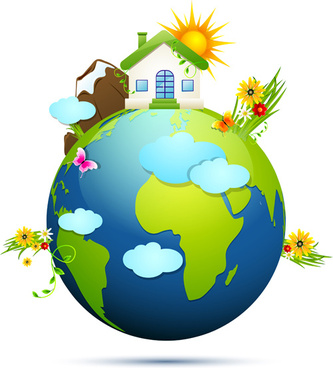 ecology with earth concept design vector