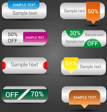 ecommerce website text buttons vector illustration
