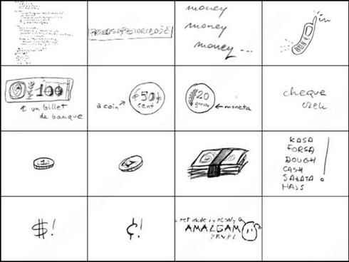 economics scribble brush