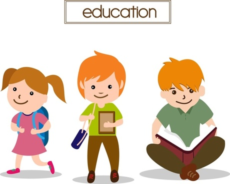 education concept design studying pupils style
