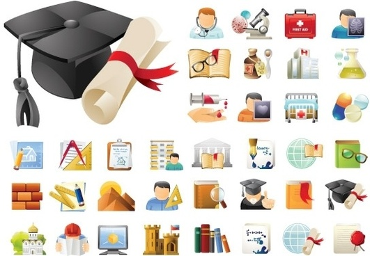 Education & Science 45 Icons Sets