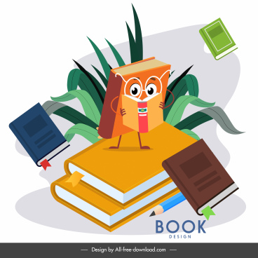 educational background stylized book sketch dynamic design