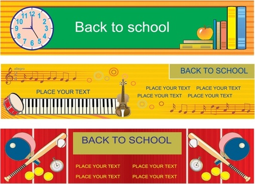 educational theme banner template vector