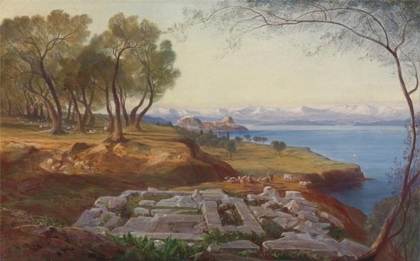 edward lear painting oil on canvas