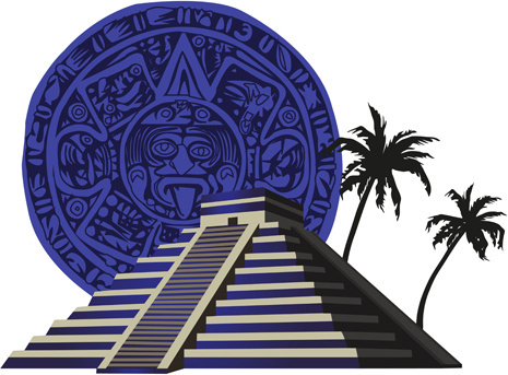 egypt style pyramid and elements vector