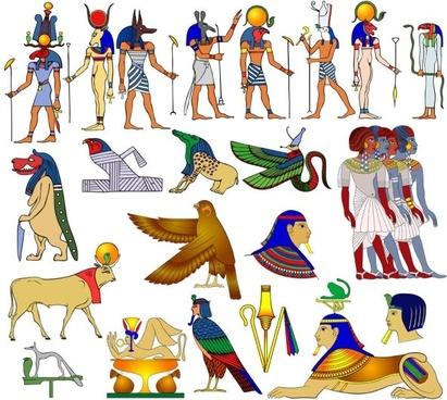 egyptian pattern 01 vector