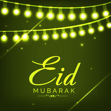 eid mubarak celebrations vector background