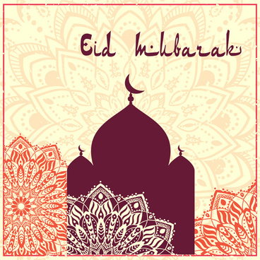 eid ornament floral art background vector