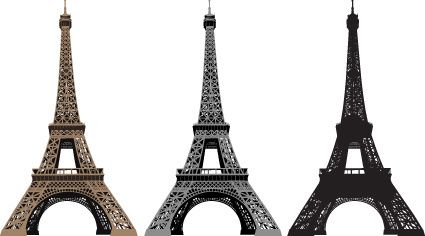 eiffel tower design elements vector