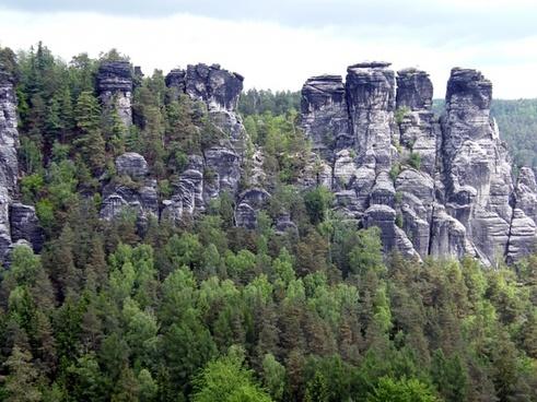 elbe sandstone mountains schrammsteine rock