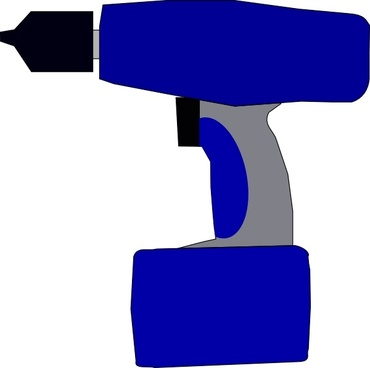 Electric Battery Drill clip art