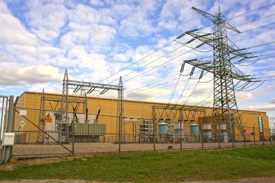 electric current high-voltage line energy