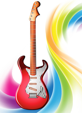 electric guitar on colorful abstract background