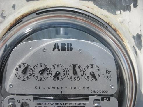 electric meter kilo watt hours