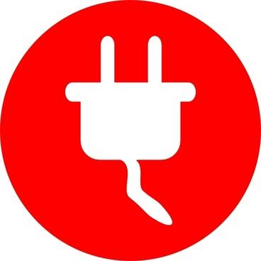 Electric Power Plug Icon clip art