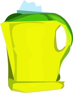 Electric Yellow Teapot clip art