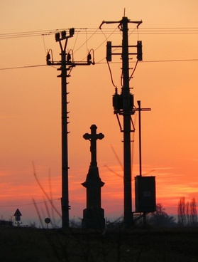 electricity and cross