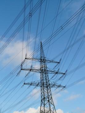 electricity pylon strommast electricity