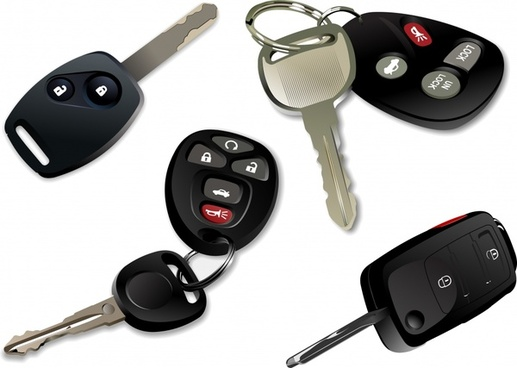 car keys icons electronic modern design 3d sketch