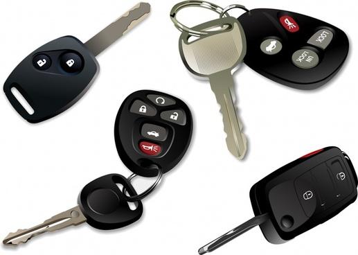 car keys icons electronic modern design 3d sketch