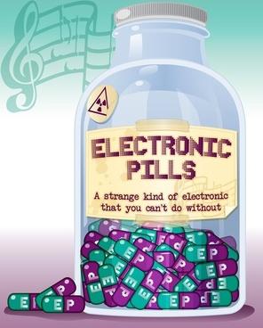 Electronic pills bottle