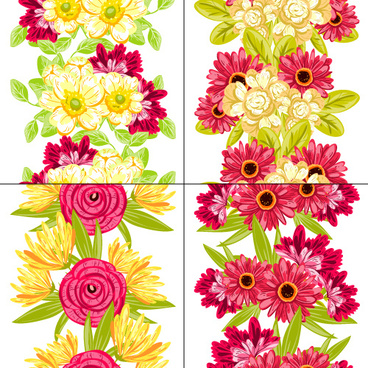 elegance flowers pattern seamless vector