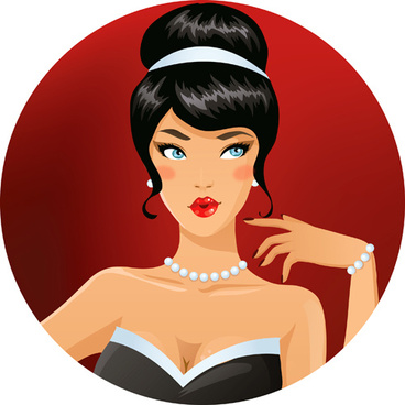 elegant and gorgeous woman vector