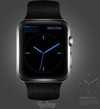 elegant apple smartwatch mockup design