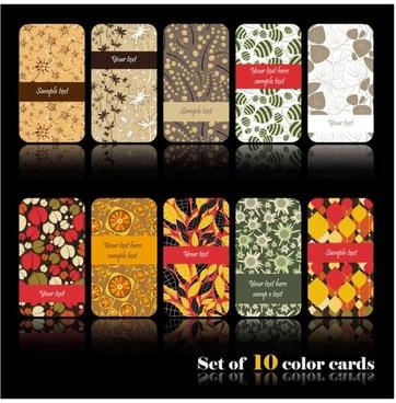 elegant background pattern cards 01 vector