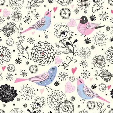 elegant background pattern illustrator 01 vector