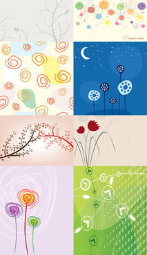 elegant background vector set