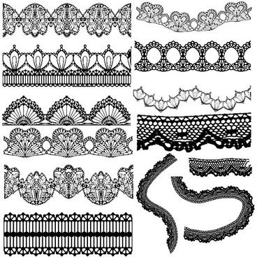 elegant black lace vector