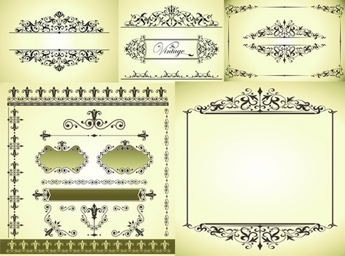 elegant border patterns vector