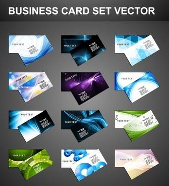 elegant business card design set vector