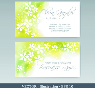 elegant business cards vectors illustration set