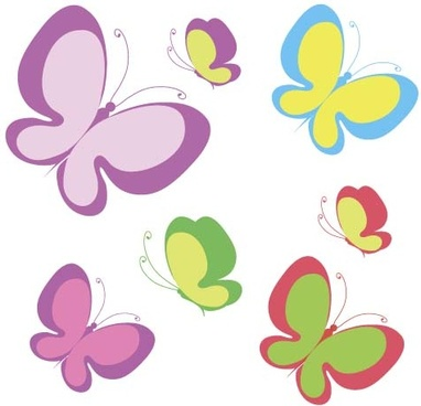 elegant butterflies background art vectors